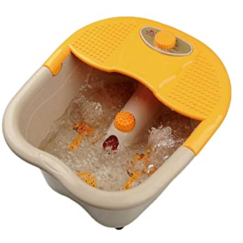 De mano del baño de pies Spa rodillo terapia de masaje Pies burbuja de vibración 220v: Amazon.es: Deportes y aire libre
