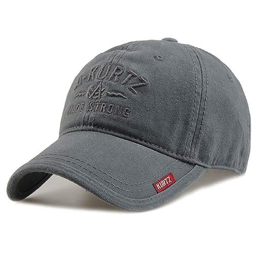 woyaochudan Sombrero de los Hombres de algodón Gorra de béisbol de ...