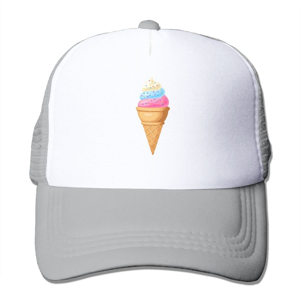 Trucker Mesh Hat Ice Cream Baseball Cap Sun Visor Caps Adjustable Hats at  Amazon Men s Clothing store  560f45e520d