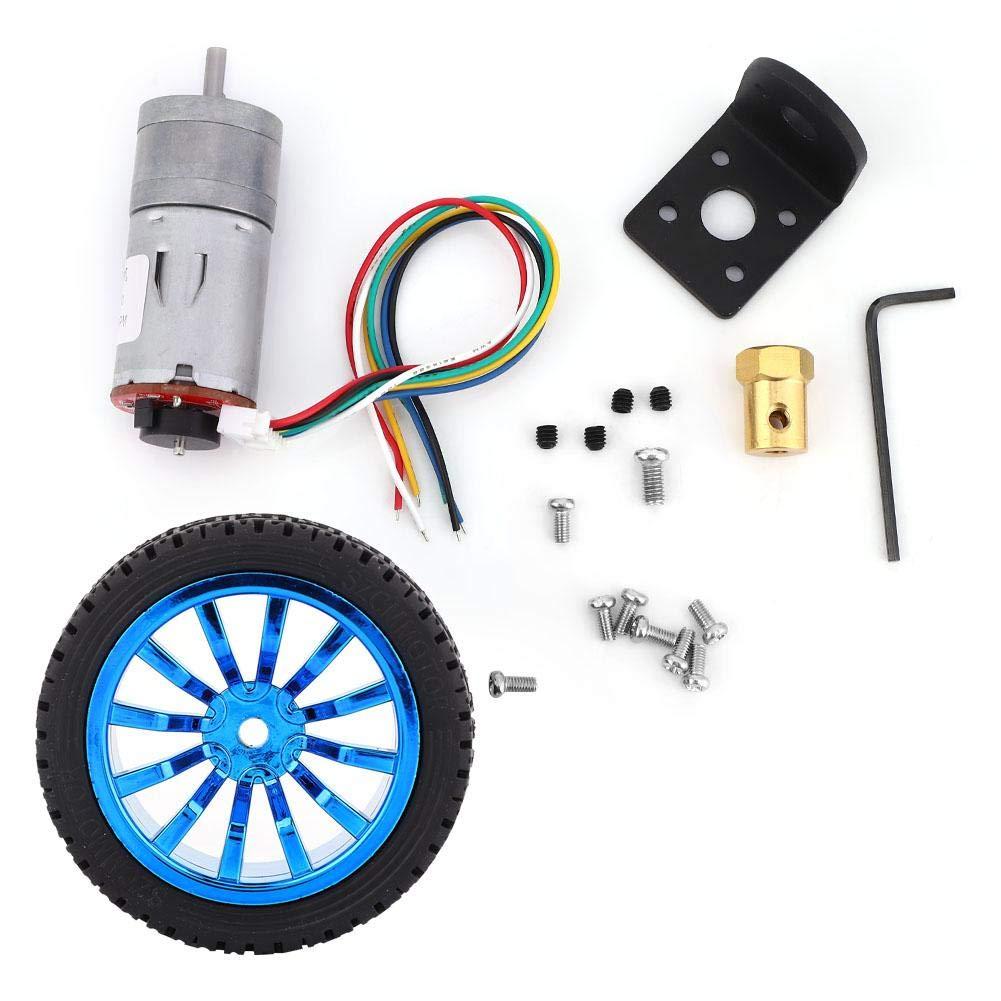 for Smart Car Robot PBZYDU DC6V DIY Encoder Gear Motor with Mounting Bracket 65mm Wheel Kit 15RPM