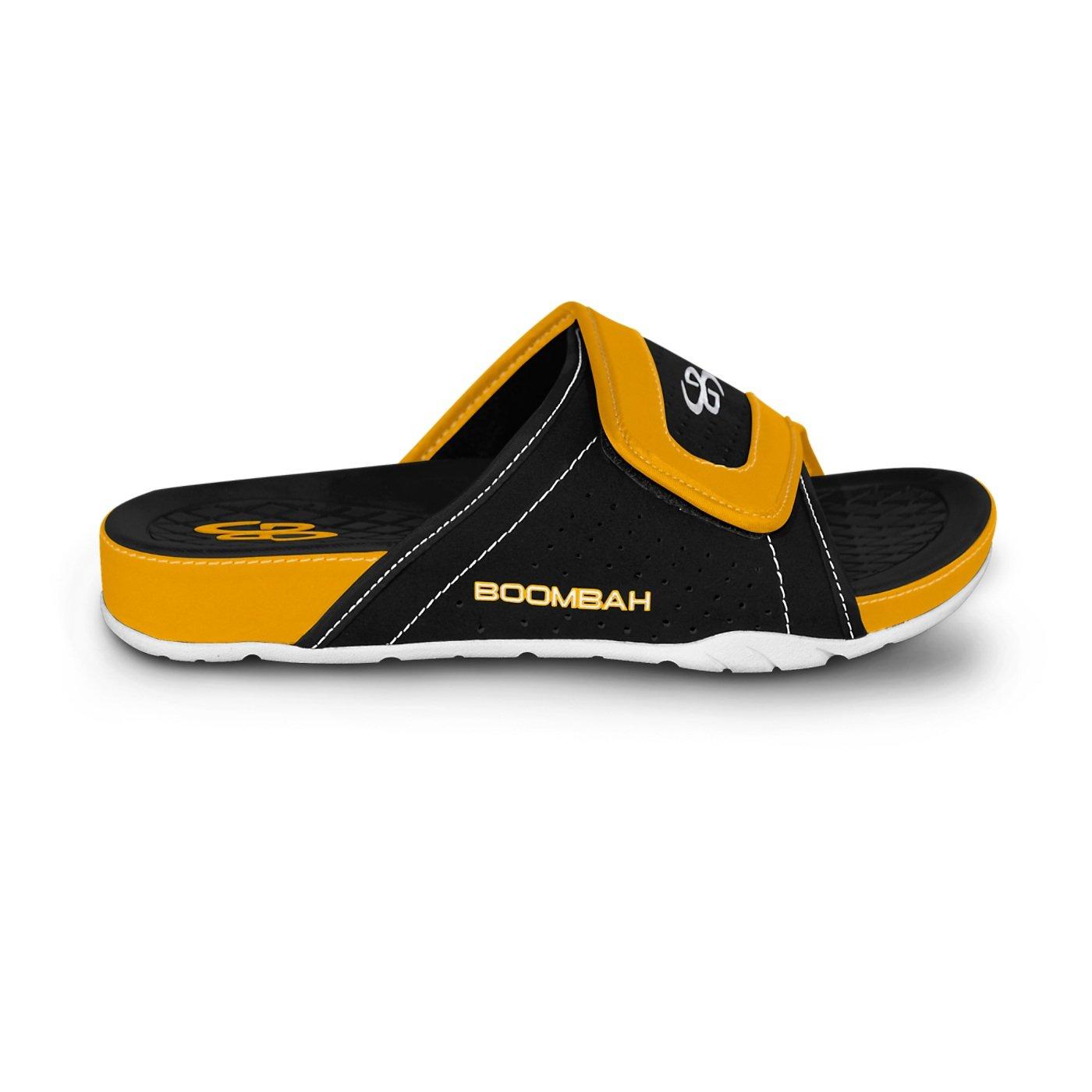 Boombah Men's Tyrant Slide Sandals - 32 Color Options - Multiple Sizes B077NL6T35 7 Black/Gold