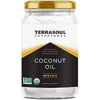 Terrasoul Superfoods Extra Virgin Organic Coconut Oil, 2 Pounds (Glass Jar)