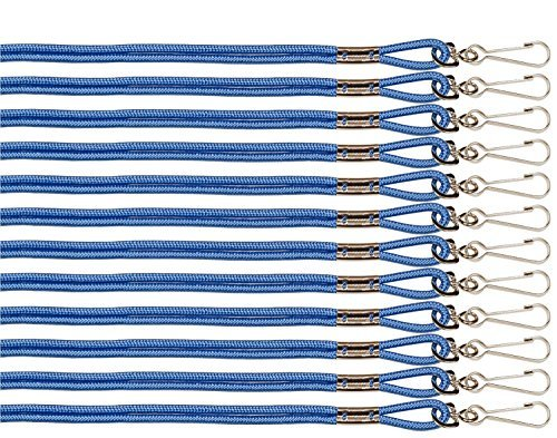 - Champion Sports Heavy Nylon Lanyard - Blue (Dozen)