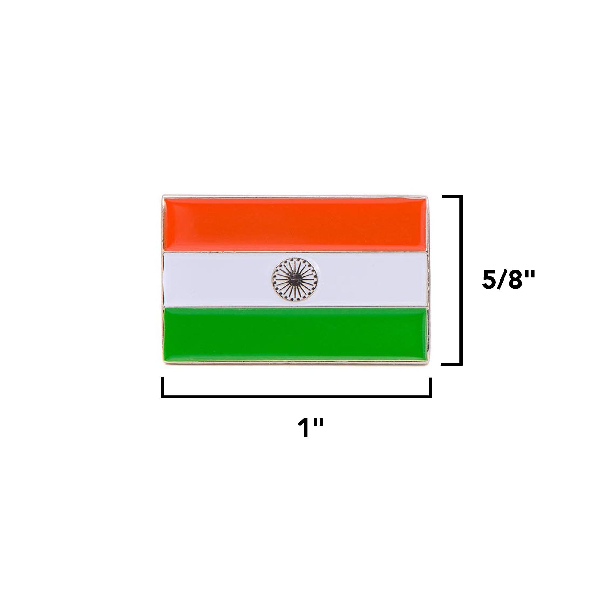 Desert Cactus India Rectangle Country Flag Cufflinks Formal Wear Blazer For French Cuff Shirt Indian by Desert Cactus (Image #2)