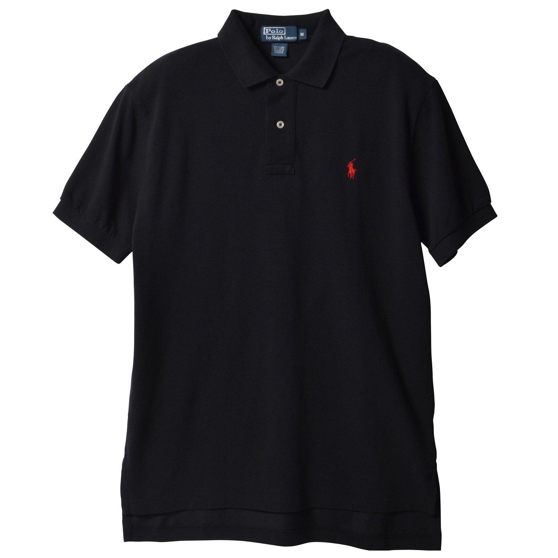 Polo Ralph Lauren Men's Classic Fit Mesh Pony Logo Polo, Polo Black, Small