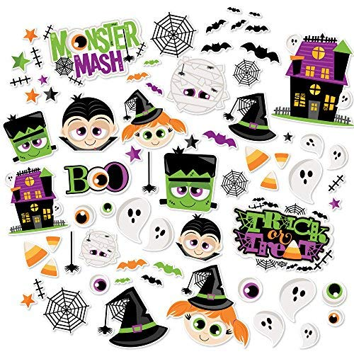 Paper Die Cuts - Monster Mash - Halloween - Over 60 Cardstock Scrapbook Die Cuts - by Miss Kate Cuttables