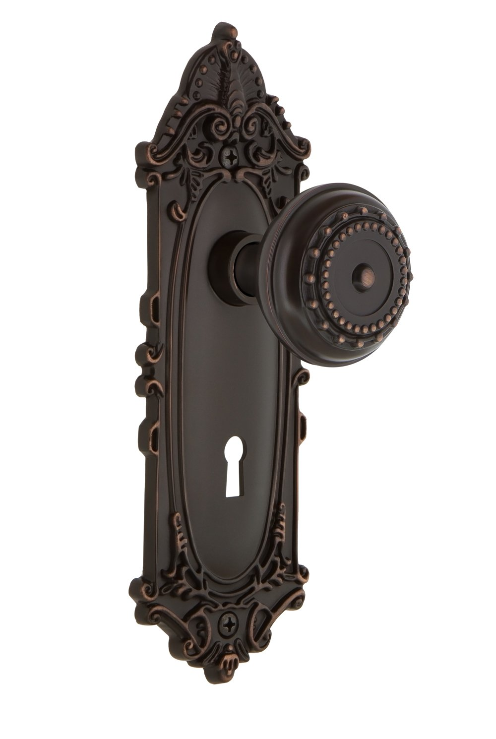 Timeless Bronze Nostalgic Warehouse Victorian Plate with Meadows Knob 2.25 Mortise