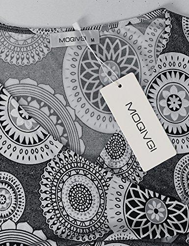 Neck Summer Midi Cross Floral Sleeveless Casual Grey MOQIVGI Dresses V Dress Women's 6R1tqA