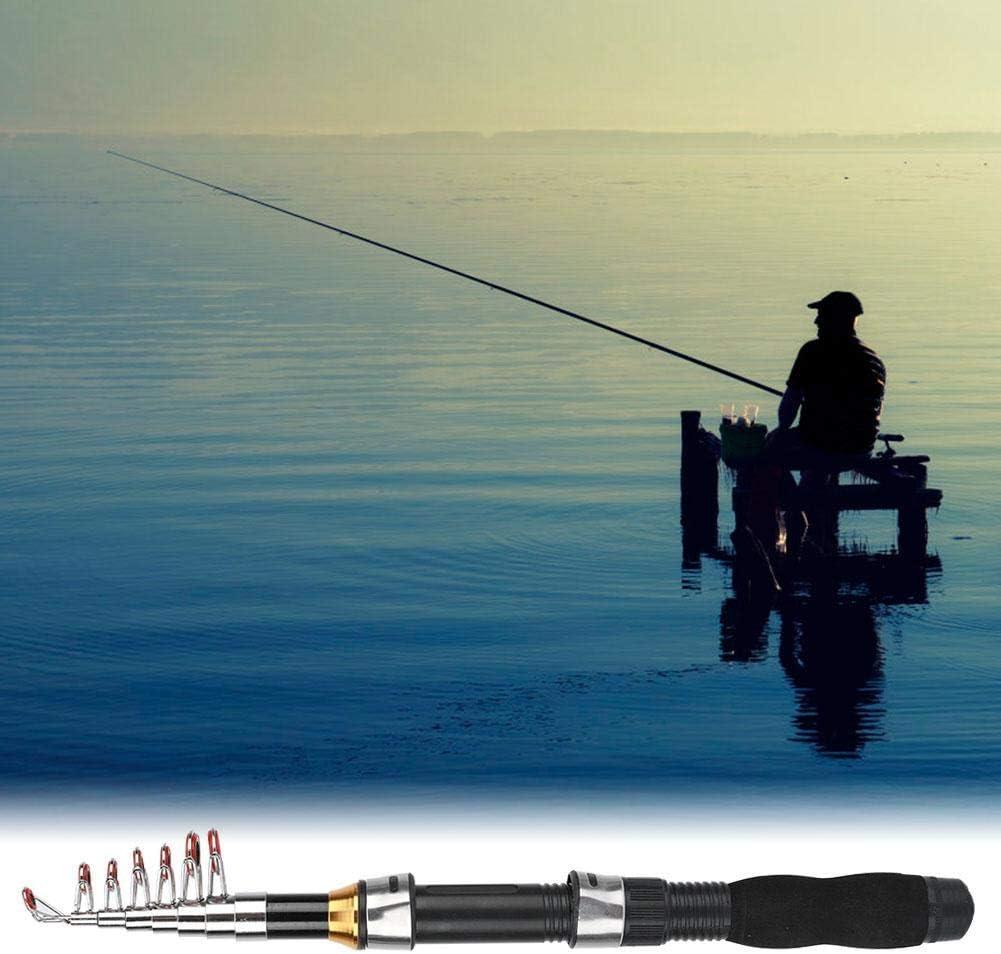 Alomejor Mini Taschen Angelrute Pen Angelrute f/ür Seefischerei Salzwasser S/ü/ßwasserfischen