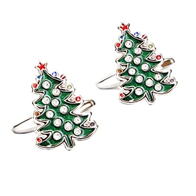 monkeyjack mens suit christmas tree santa claus winter cufflinks with jewlery gift box