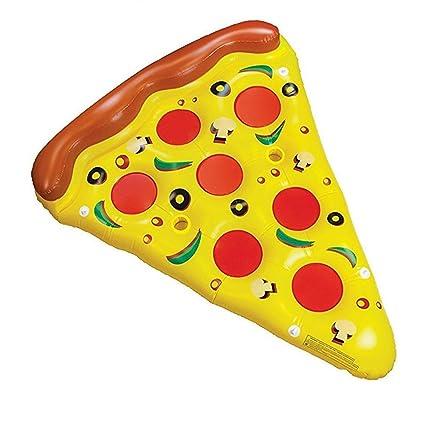 Inflables Pizza Piscina Flotador Colchón Inflable Piscina Flotador Balsa Al Aire Libre Piscina Lounger Swim Cushion