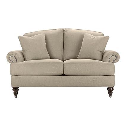 Bon Ethan Allen Hyde Sofa, 66u0026quot; Loveseat, Palmer Pearl Chenille Fabric