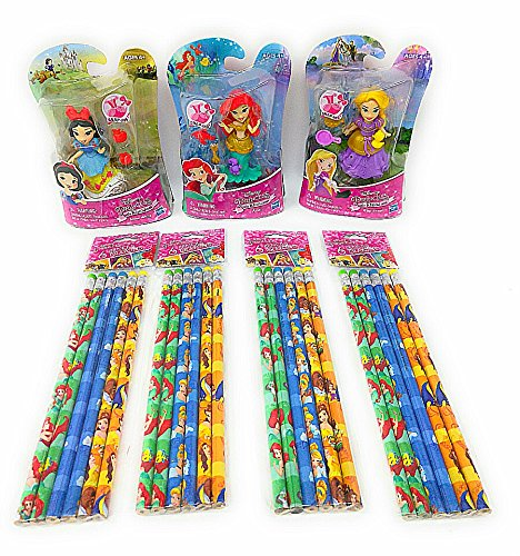 Back to School Toddler Pre-school Elementary School Classroom Teacher Supplies Supply Kit Disney Snap Ins Princess Little Mermaid Snow White Rapunzel Dolls Mechanical Pencil Set (Disney The Little Mermaid Sparkle Birthday Banner)