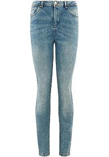Promod Jean Droit Taille Haute Femme Jean Rinse 38  Amazon.fr ... c798137a5fd