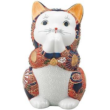 Gato rezar de gato de la suerte japonés Kutani cerámica: Amazon.es: Hogar
