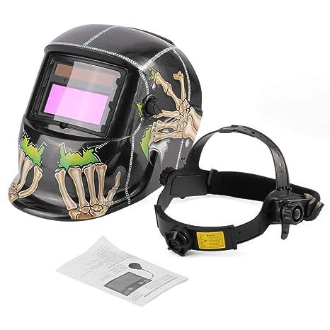 Kongqiabona Solar Powered Oscurecimiento automático Soldadura Casco Soldadura Mascarilla Arco TIG Mig Máscara Molienda Máscara de
