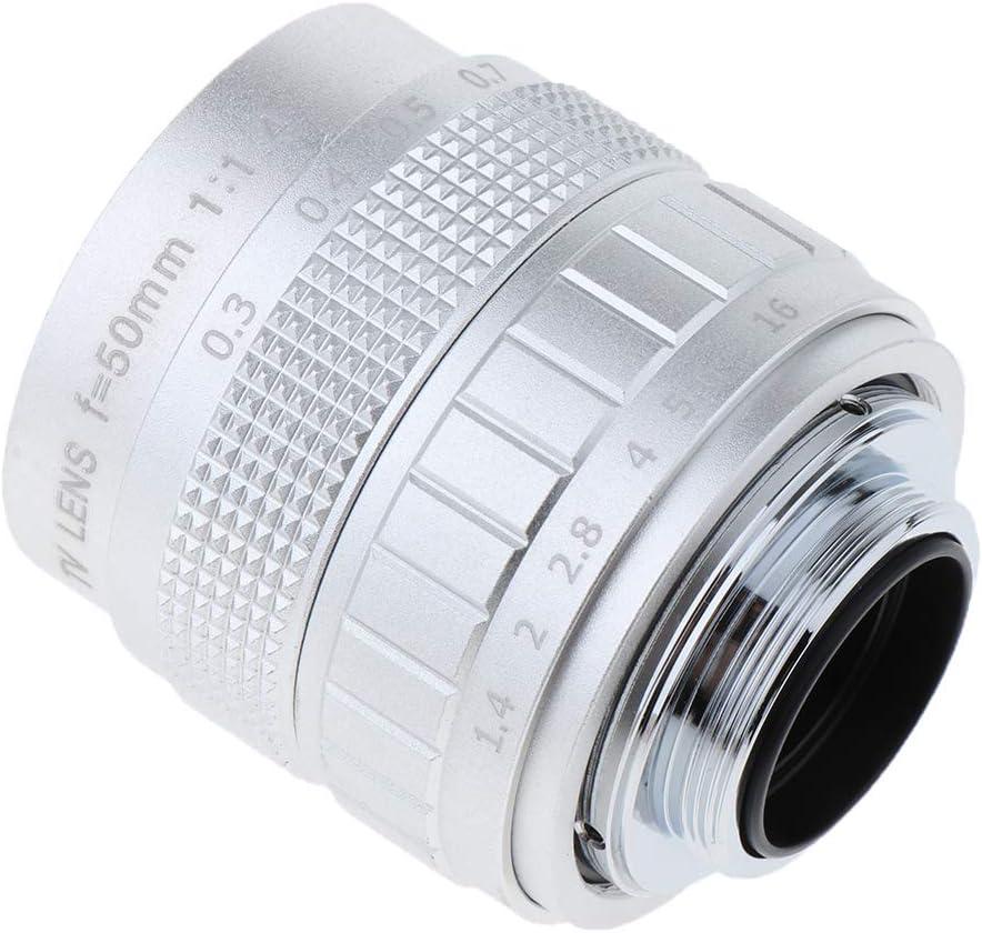 gazechimp 1x 50mm F//1.4 TV Lens+1x C Mount Adapter+2X Macro Rings Kits for Canon EOS M Black