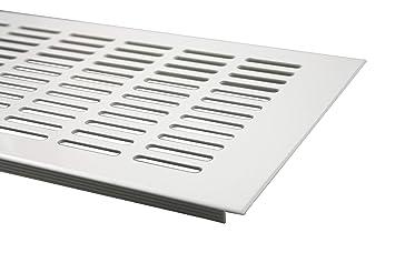 Registres, grilles et bouches d'aération Bricolage Lüftungsgitter Grille daération en aluminium anodisé Argenté 100x400mm