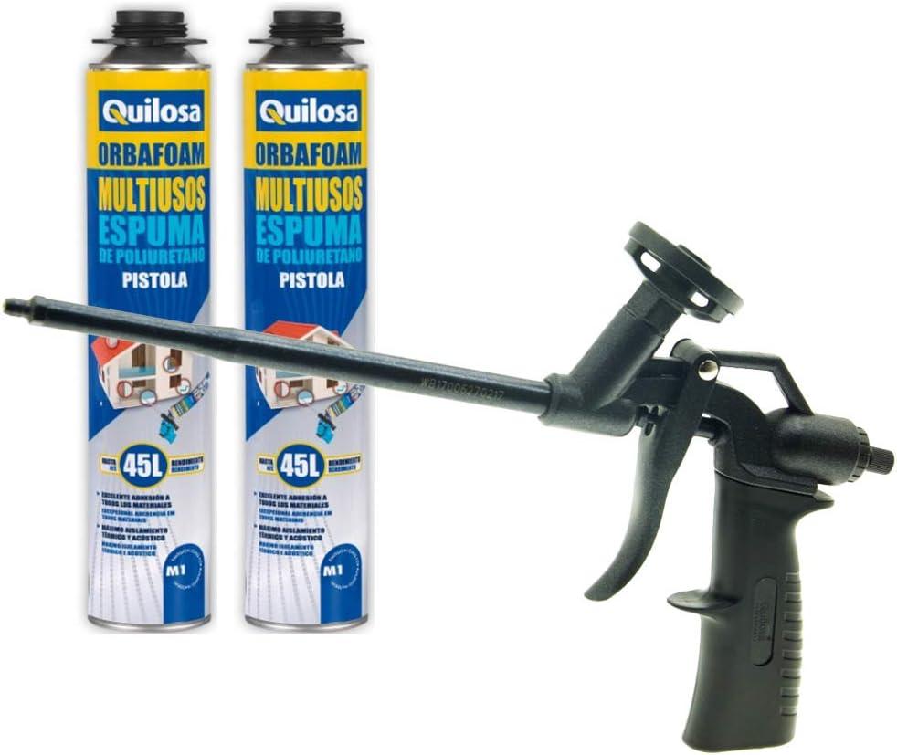 Juego pistola para espuma de poliuretano Orbafoam Pro Grafito + 2 ...
