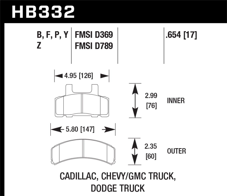 Hawk HB332B.654 Brake Pad