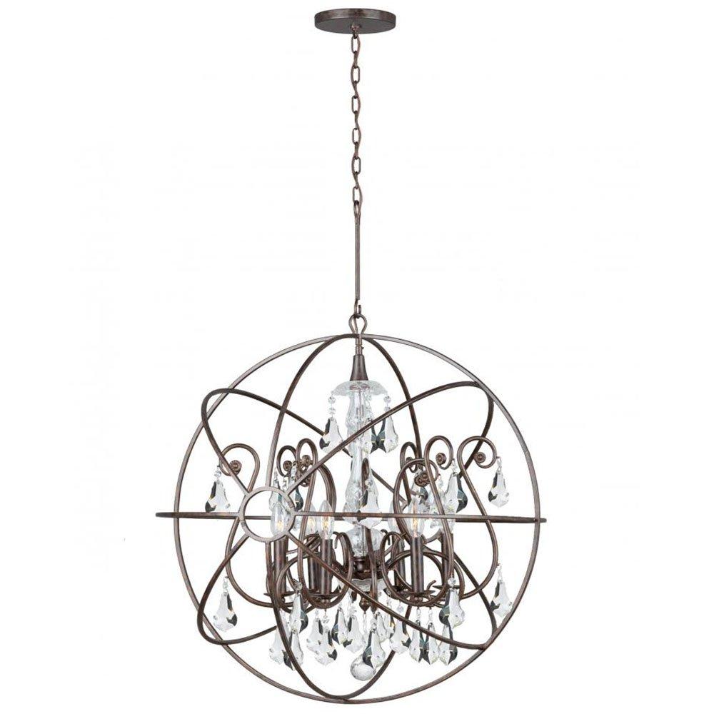 Crystorama 9028 eb cl mwp crystal accents six light chandeliers from crystorama 9028 eb cl mwp crystal accents six light chandeliers from solaris collection in bronzedarkfinish amazon aloadofball Images