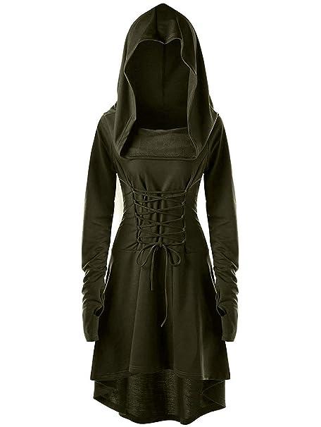 Amazon.com: Disfraz de renacimiento para mujer, bata con ...