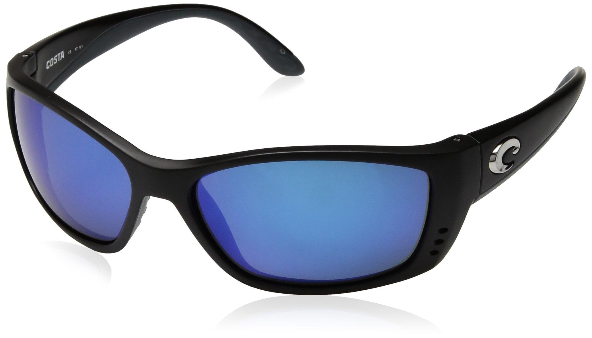 Costa del Mar Unisex-Adult Fisch FS 11 OBMGLP Polarized Iridium Oval Sunglasses, black, 63.8 mm by Costa Del Mar