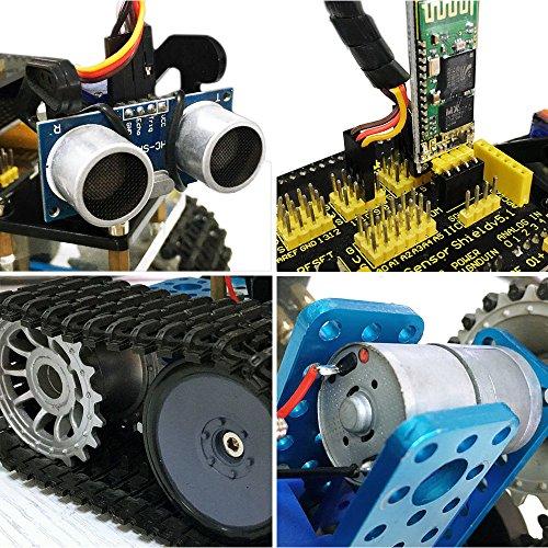 Keyestudio mini tank robot for arduino uno project smart