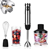 KOIOS Powerful 800W 4-in-1 Hand Immersion Blender 12 Speeds, Includes 304 Stainless Steel Stick Blender, 600ml Mixing…