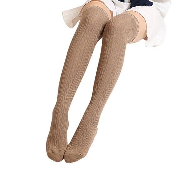 ab9207b85fd0f URSING Frau Damen Winter Gestrickt Overknees Langer Stiefel Oberschenkel  hoch Warm Socken Gamaschen kniestrümpfe Sportsocken stützstrumpfhose ...