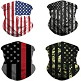 4pcs Cooling Neck Gaiter/US Flag Gaiters/Mission Cooling Gaiter/Face Cover for Outdoors, Festivals, Sports Unisex