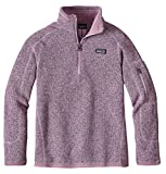 Patagonia Girls' Better Sweater Fleece Quarter Zip (L, Dragon Purple)
