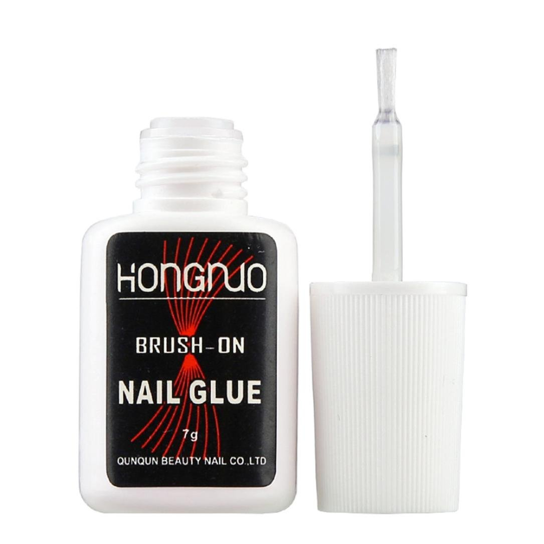 Iuhan Pro Nail Art Glue for Foil Sticker Nail Transfer Tips Adhesive 7g Transparent Glue (A, A)