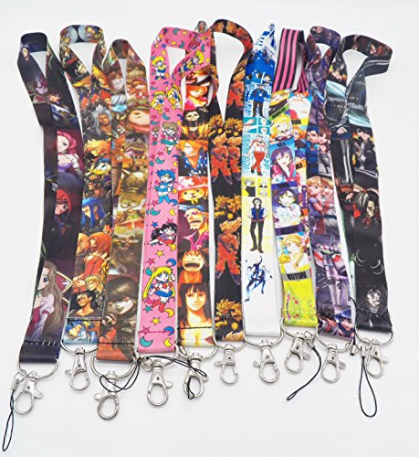 10 Assorted Anime Code Geass One Piece Phone Key Chain Strap LANYARD Set #22