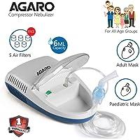 Agaro Compressor Nebulizer - NB 21 Complete Kit with Child & Adult Mask
