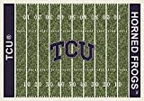 Milliken 4000018733 Texas Christian College Home Field Area Rug, 10'9'' x 13'2'', 01430 Home Field