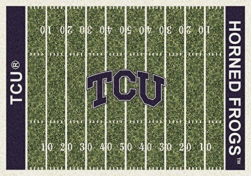 Milliken 4000018733 Texas Christian College Home Field Area Rug, 10'9'' x 13'2'', 01430 Home Field by Milliken