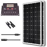 Renogy 200 Watt 12 Volt Monocrystalline Solar Bundle Kit with 30A PWM Controller - LCD Display