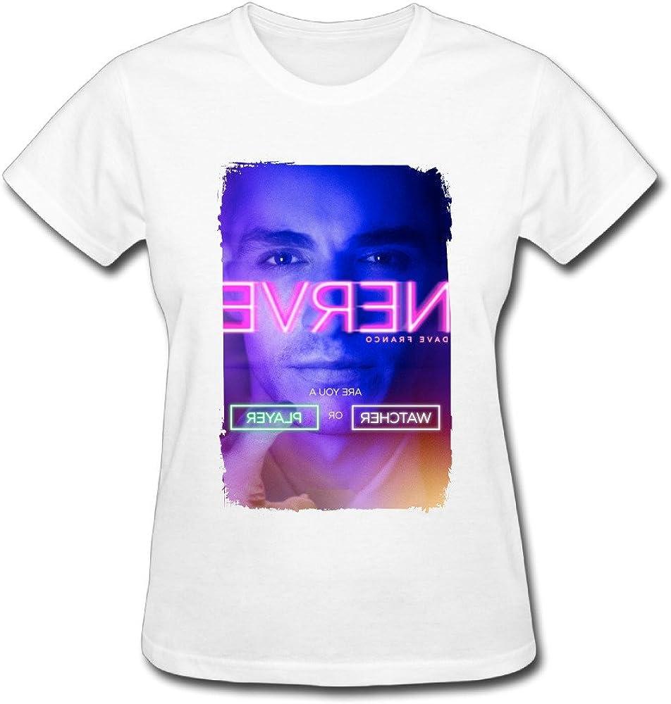 Anskan Women's Dave Franco Nerve Movie Poster T Shirt
