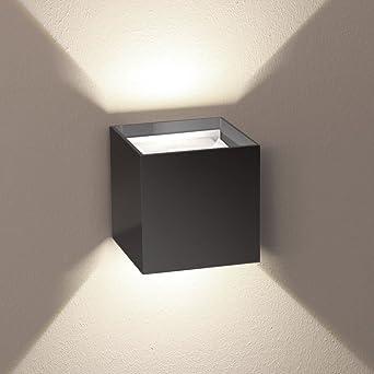 Außen Wandleuchte S.LUCE Ixa Anthrazit Mit Verstellbaren Winkeln Flurlampe  Upu0026Down Lichteffekt IP44