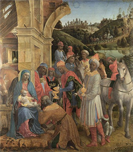 ['Vincenzo Foppa The Adoration Of The Kings ' Oil Painting, 18 X 21 Inch / 46 X 52 Cm ,printed On High Quality Polyster Canvas ,this Beautiful Art Decorative Prints On Canvas Is Perfectly Suitalbe For Dining Room Gallery Art And Home Decor And] (Pictures Of Jazz Dance Costumes)