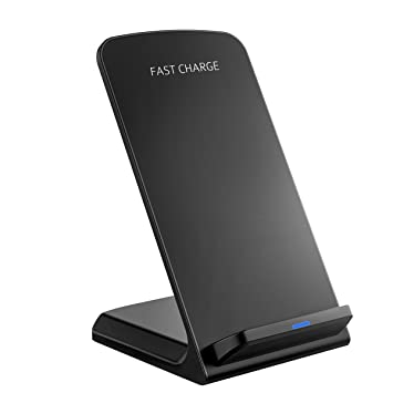 PICTEK Cargador Inalámbrico Rapido, Admite de Carga Horizontal y Vertical, Cargadores por Inducción para Móviles, 10W Carga para Galaxy S9, S9 Plus, ...