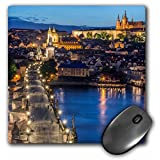 3dRose Czech Republic, Bohemia, Prague, Charles Bridge Twilight. - Mouse Pad, 8 by 8 inches (mp_207789_1)