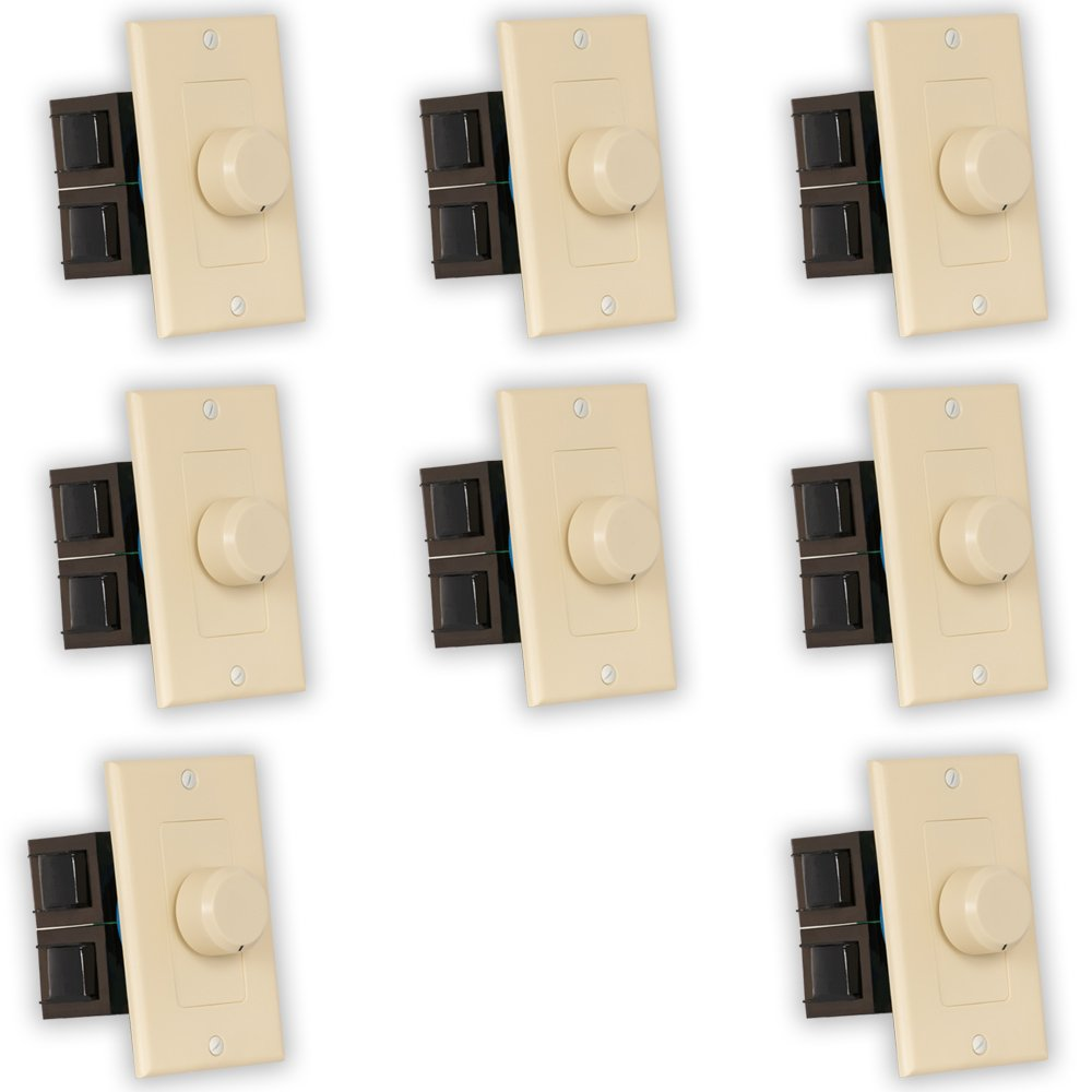 Theater Solutions TSVCD-I Indoor Speaker Volume Controls Ivory Dial Audio Switches 8 Piece Pack by Theater Solutions