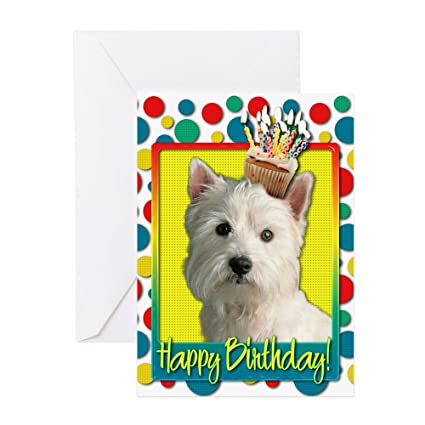 Amazon Cafepress Birthday Cupcake Westie Greeting Card