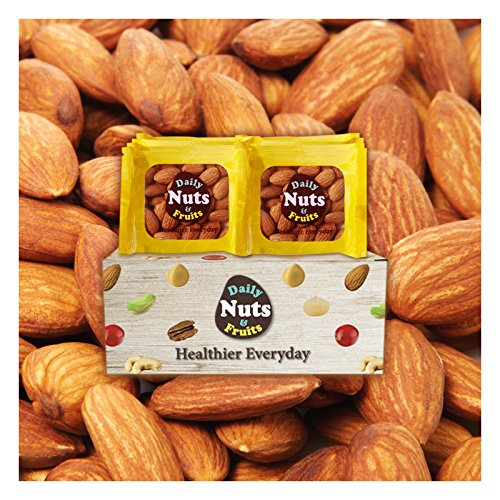 Daily Nuts ''Roasted Almonds'', Value Packs (32)/2 LBS, UN-SALTED USDA Extra No.1, Healthy Choice, NO ARTIFICIAL ADDITIVES, On the go, unsalted, Natural, Premium Nuts, On the Go, Multi Pack by Daily Nuts & Fruits