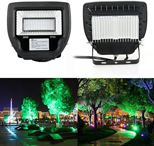 Anten® 30W LED Scheinwerfer im Freien wasserdichtes IP65 im Freien Garten Fluter RGB Strahler Stecker Shell Schwarz