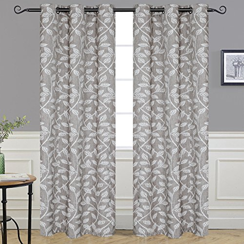 Alice Brown Ultra Sleep Well Curtains Bedroom,Window Treatment Thermal Insulated Solid Grommet Blackout Living Room (2 Panel, W42 x L84 –Inch, Leaves)