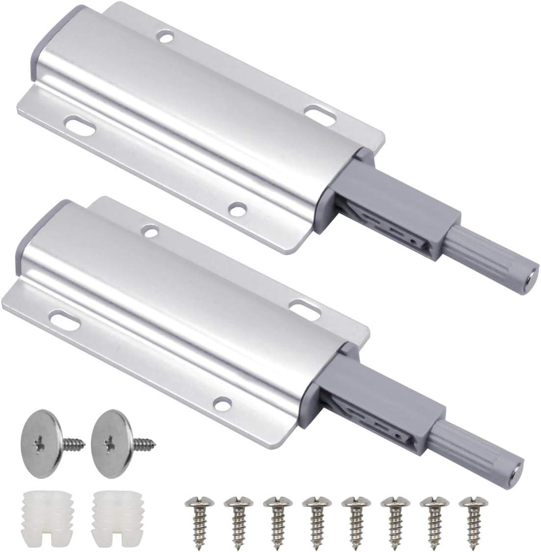 HQdeal 2 Pcs Amortiguador de Puerta Magn/éticos Push To Open System Damper Buffer Cierres Magn/éticos para Puertas de Armario