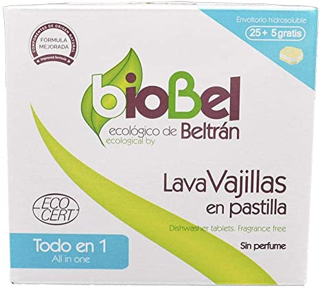 Biobel - Pastillas Lavavajillas Ecologicas, 30 Unidades: Amazon.es ...